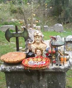 Altar politeísta. Foto de Labrys.gr